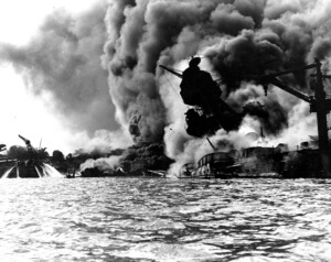 USS Arizona Photo burning devastation