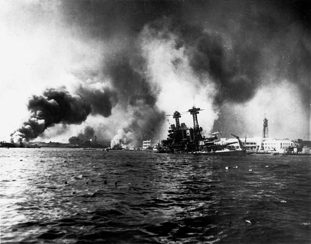 Pearl Harbor Ships during the attack