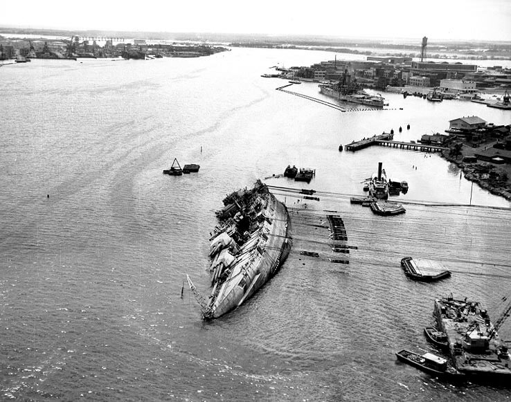 Ships lost at Pearl Harbor