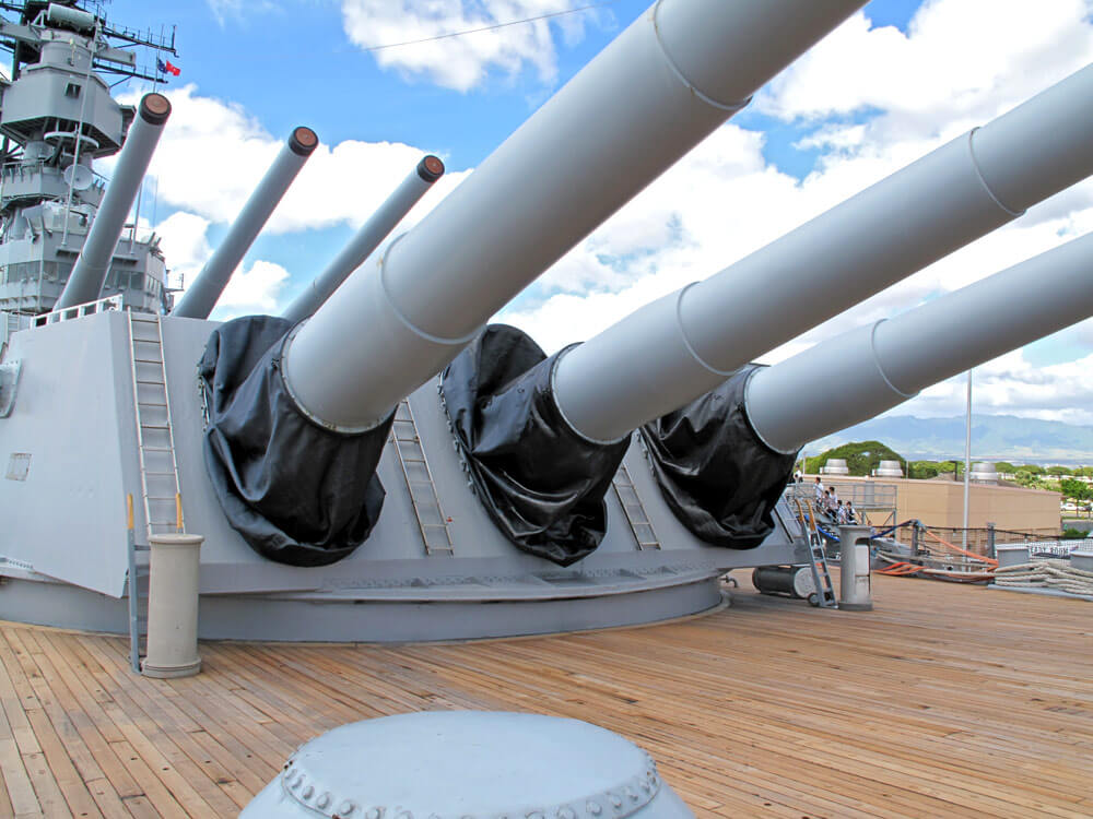 Battleship Missouri Guns