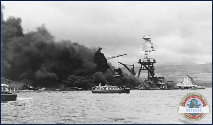 Sunk at Pearl Harbor, explosion of the USS Arizona