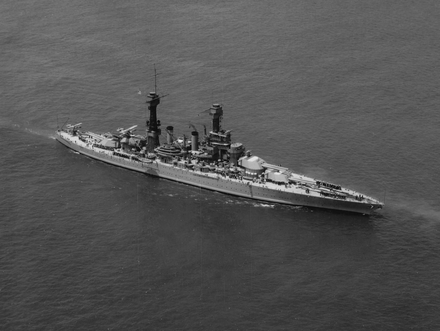 USS West Virginia (BB-48) provides an example of what happens when a ship is decommissioned